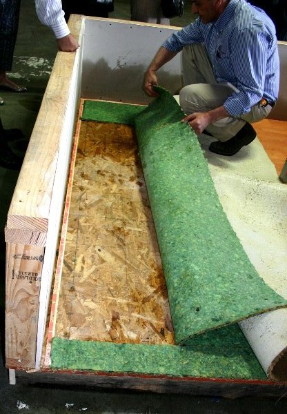 Carpet drying demonstration
