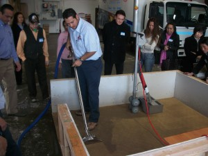 Removing Water from a Carpet at MJ12 Restoration